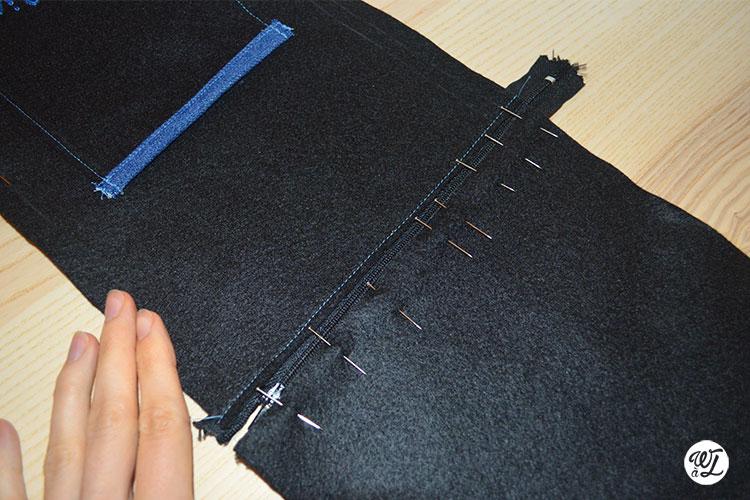 DIY couture - Wesh à Laure - Zip épinglé
