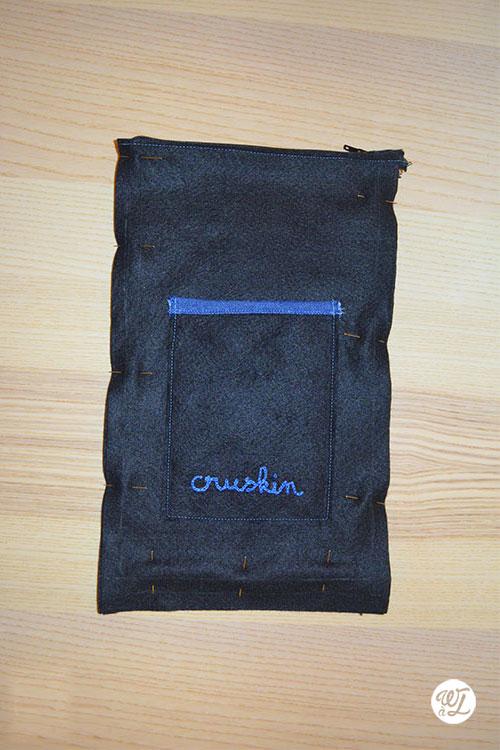 DIY couture - Wesh à Laure - Tour de pochette épinglée