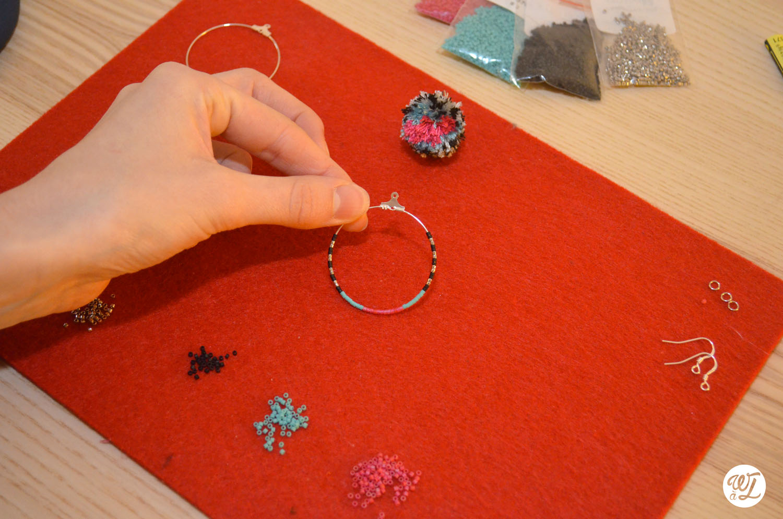 Boucles d'oreilles Pompon - Perles
